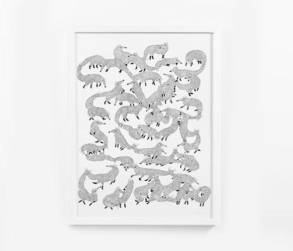 Foxes Print
