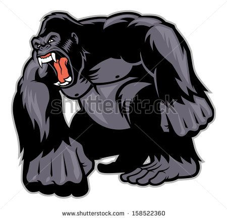 Big Gorilla mascot - stock vector   Shirt Ideas ... - photo#25