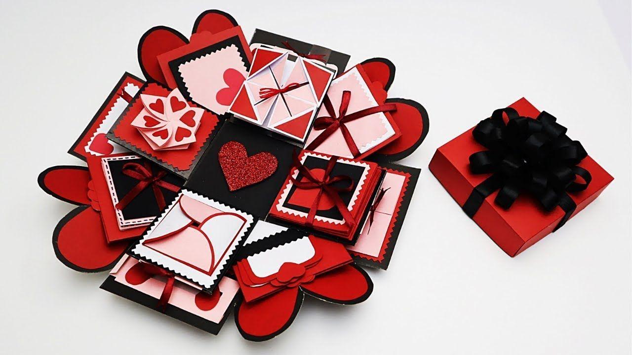 Diy explosion box tutorial valentines day anniversary