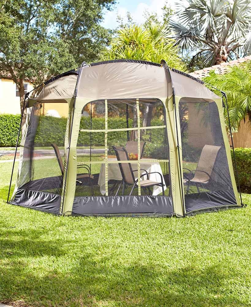 Easy Up 12 X 14 Screen Gazebo Is Just What You Need For Outdoor Dining In Your Own Backyard The Ious Interior Enough A Table And Provides