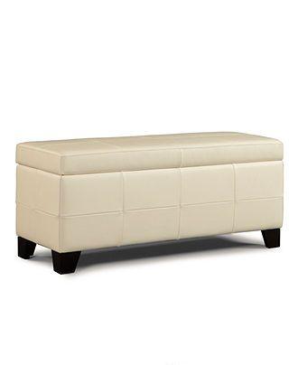 Hawthorne Storage Bench, White - Bedroom Furniture ...