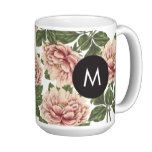 "Vintage Peonies Monogram Coffee Mug -    			 			                          					 			 		   				Vintage Peonies Monogram Coffee Mug 			 $  17.95  			by FINEandDANDY 		   mothers day: Zazzle.com Store: Matching ""mothers day""  http://47beauty.com/vintage-peonies-monogram-coffee-mug/"