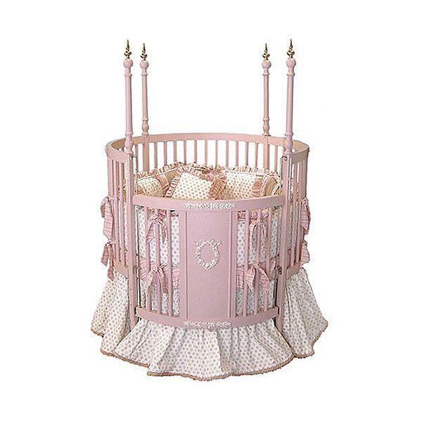 Poshtots Luxury Baby Furniture Pink Versailles Round Crib