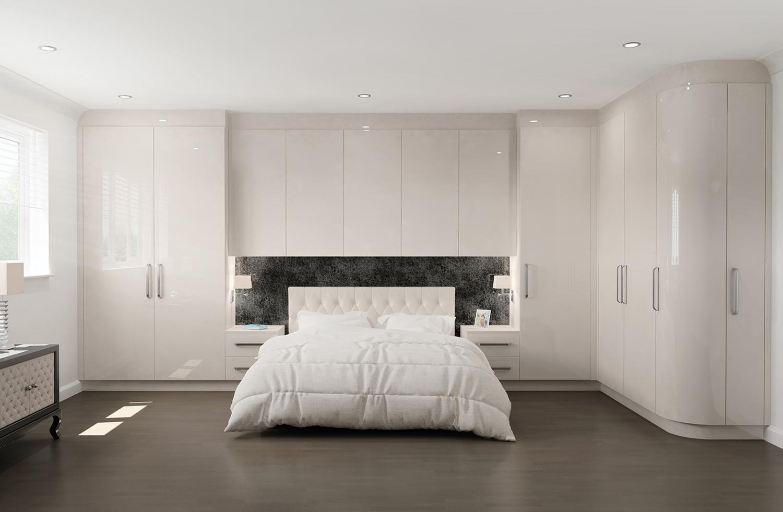 New Display Coming Soon Stunning Glacier White High Gloss Bedroom