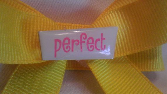 Small Yellow and just PERFECT Hair Bow by AmalieBowtique on Etsy, $3.99