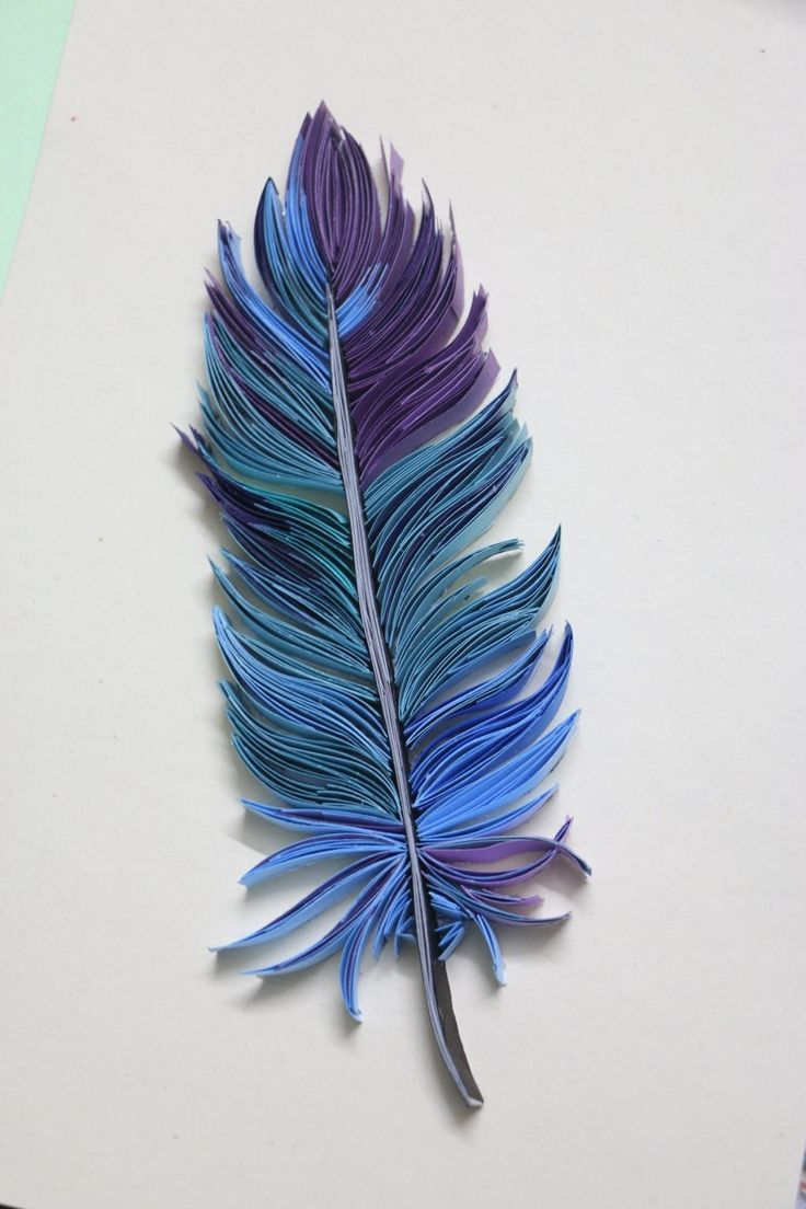 Photo of Quilling feather / #feather #paperquillingdesignsflowers #Quillin
