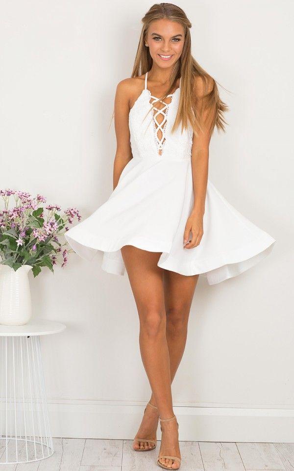 Spun Up dress in white lace  f440e83f33e4