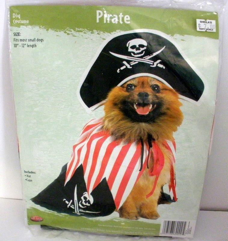 Fun World  Pirate  Dog Costume -Size Small 10 -12  Length- New & Fun World