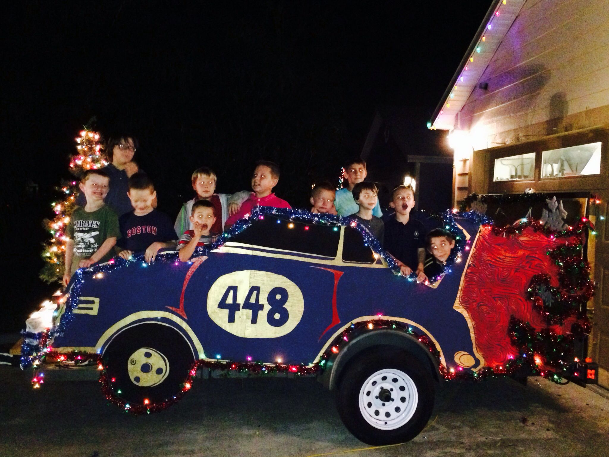 Yes! Cub Scout Christmas Float 2013!