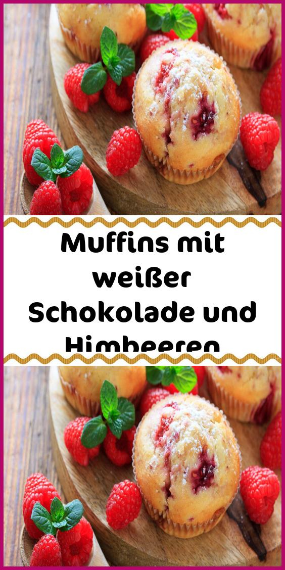 Muffins mit weißer Schokolade und Himbeeren – Dessert- und Backrezepte