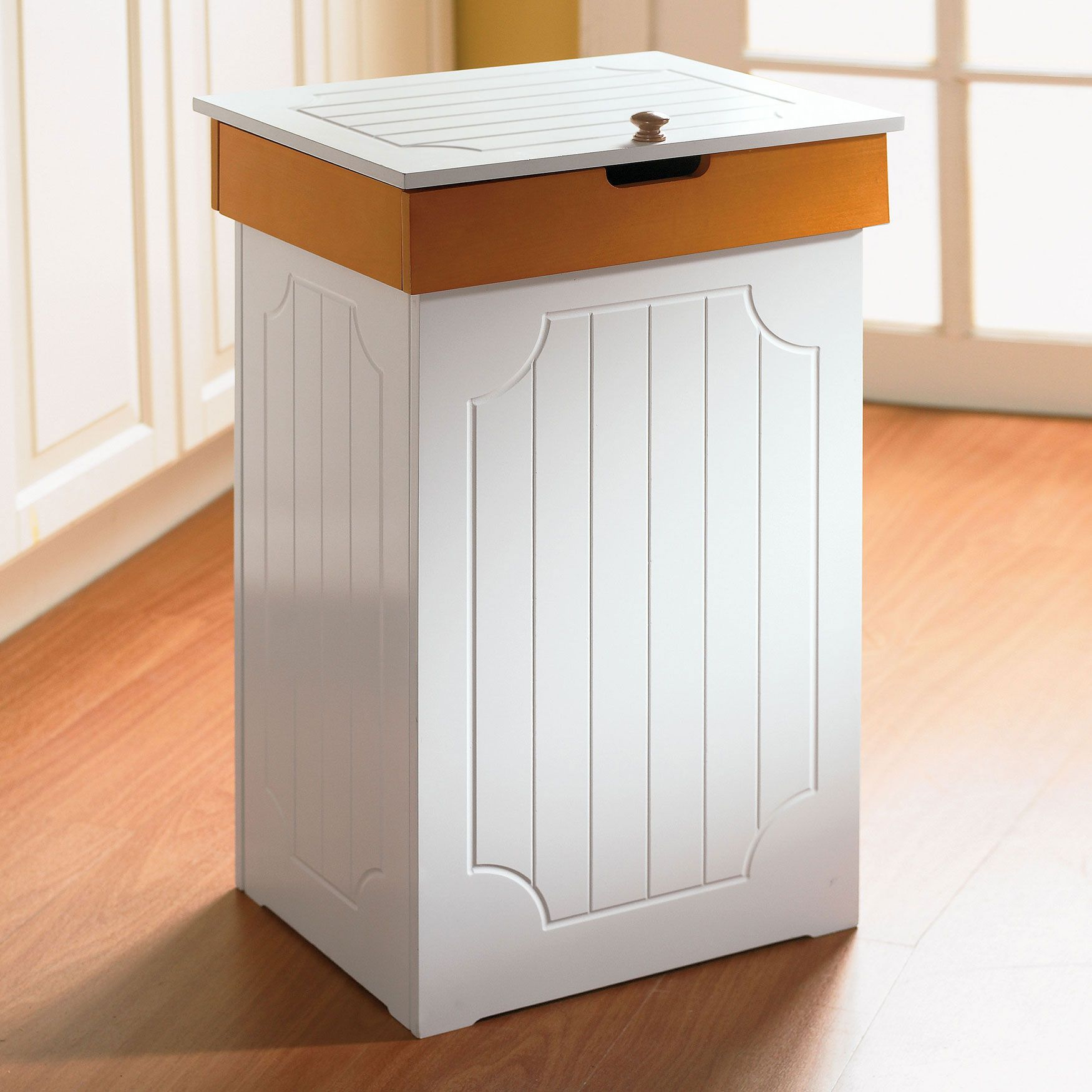 Kitchen Trash on Brylane Country Kitchen Wood Trash Bin Wood Trash Bin For  The Home