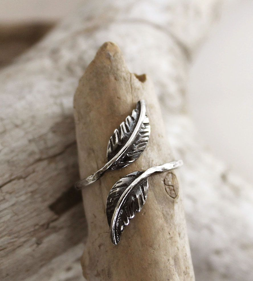 Feather Diamond Engagement Ring