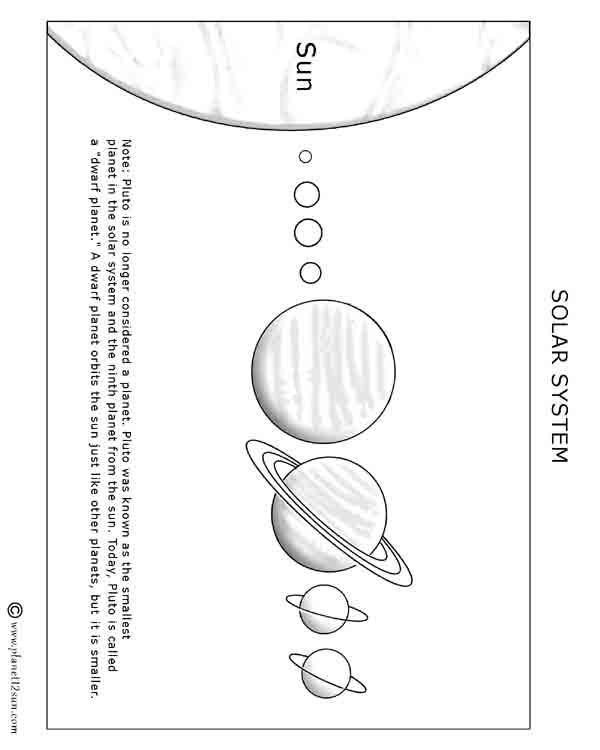 orbit solar system worksheet blank - photo #24