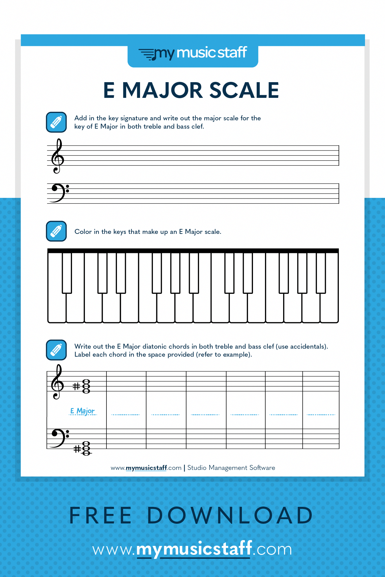 This Activity Is All About The Key Of E Major Great For