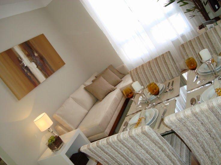 Jeito de Casa: Duas pequenas salas integradas - estar e jantar!