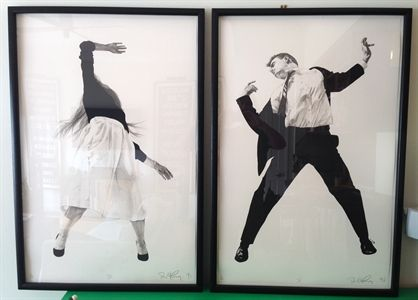 Two prints from Men in the Cities by Robert Longo on artnet Auctions