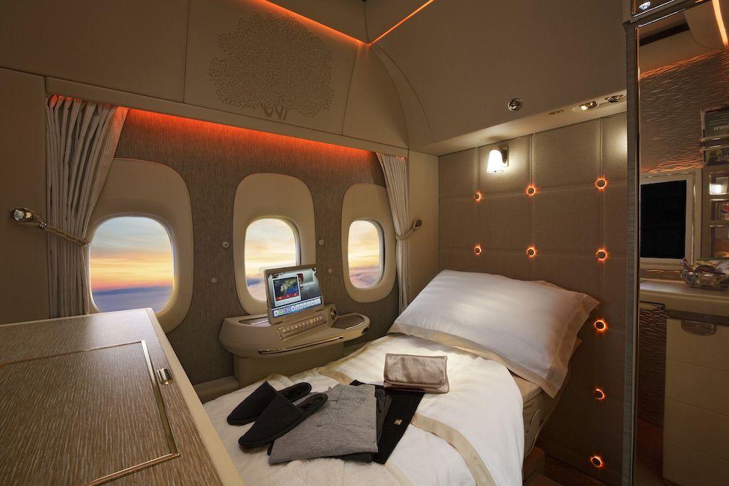 Emirates nouvelle Première classe Salon aeronautique