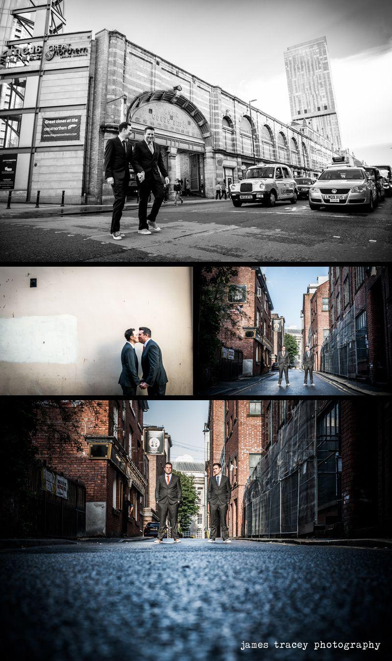 Couple photos in Manchester city centre