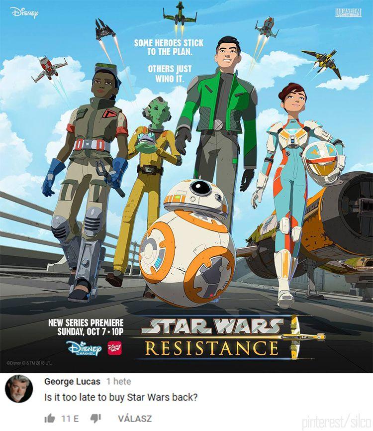 Starwars Resistance Meme Lol Funny Lucas Disney Star Wars Humor Star Wars Characters Star Wars Memes