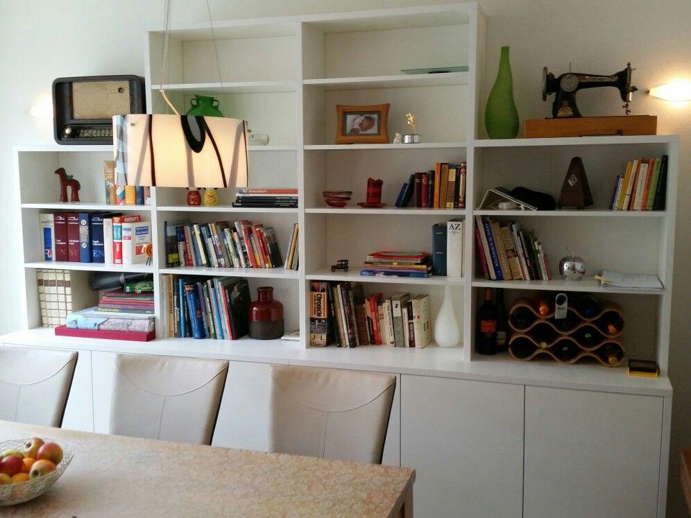 Wand/boekenkast - interieur | Pinterest - Wandkasten, Boekenkasten ...
