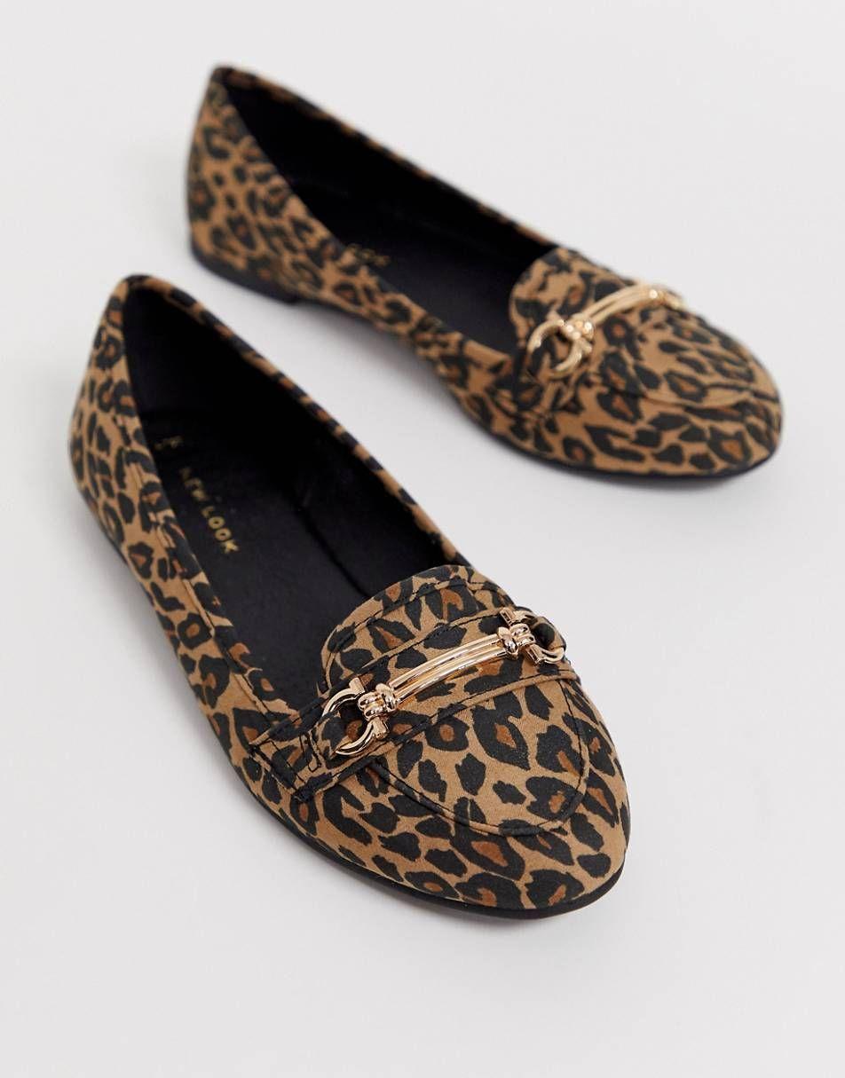 Animal print shoes flats