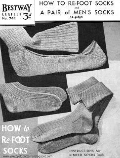 http://prettyoldpatterns.blogspot.co.uk/2014/08/make-do-and-mend-vintage-sock-pattern.html