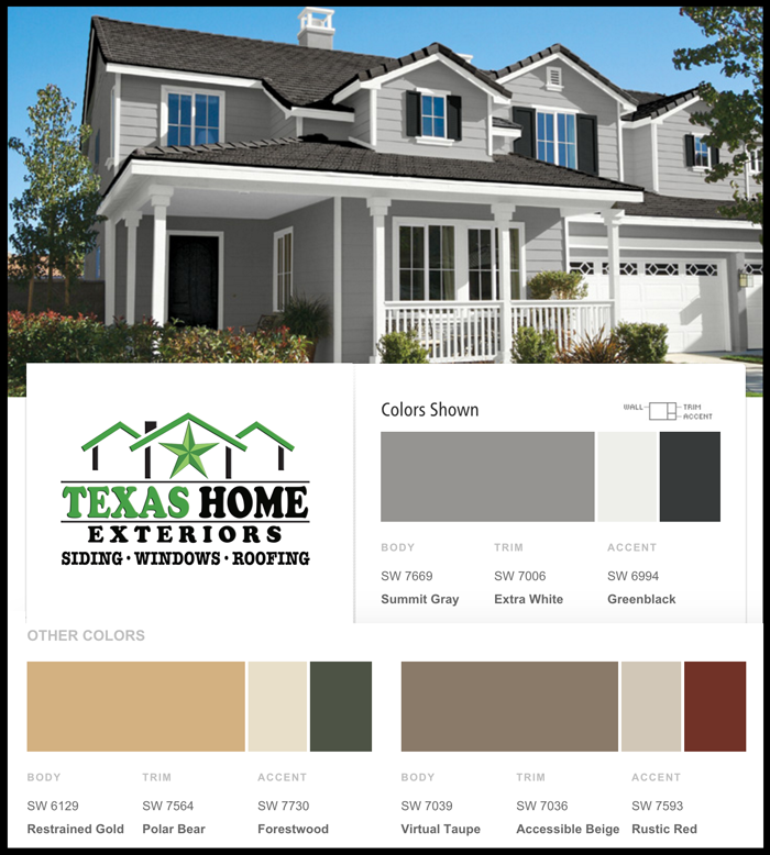 Exterior Paint Colour Options. great color ideas with a variety of ...