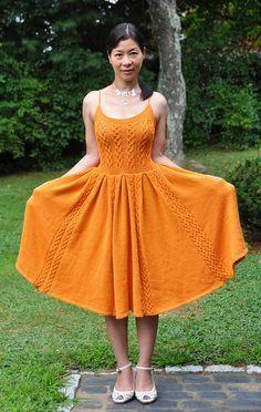 Orange Knitted Dresses