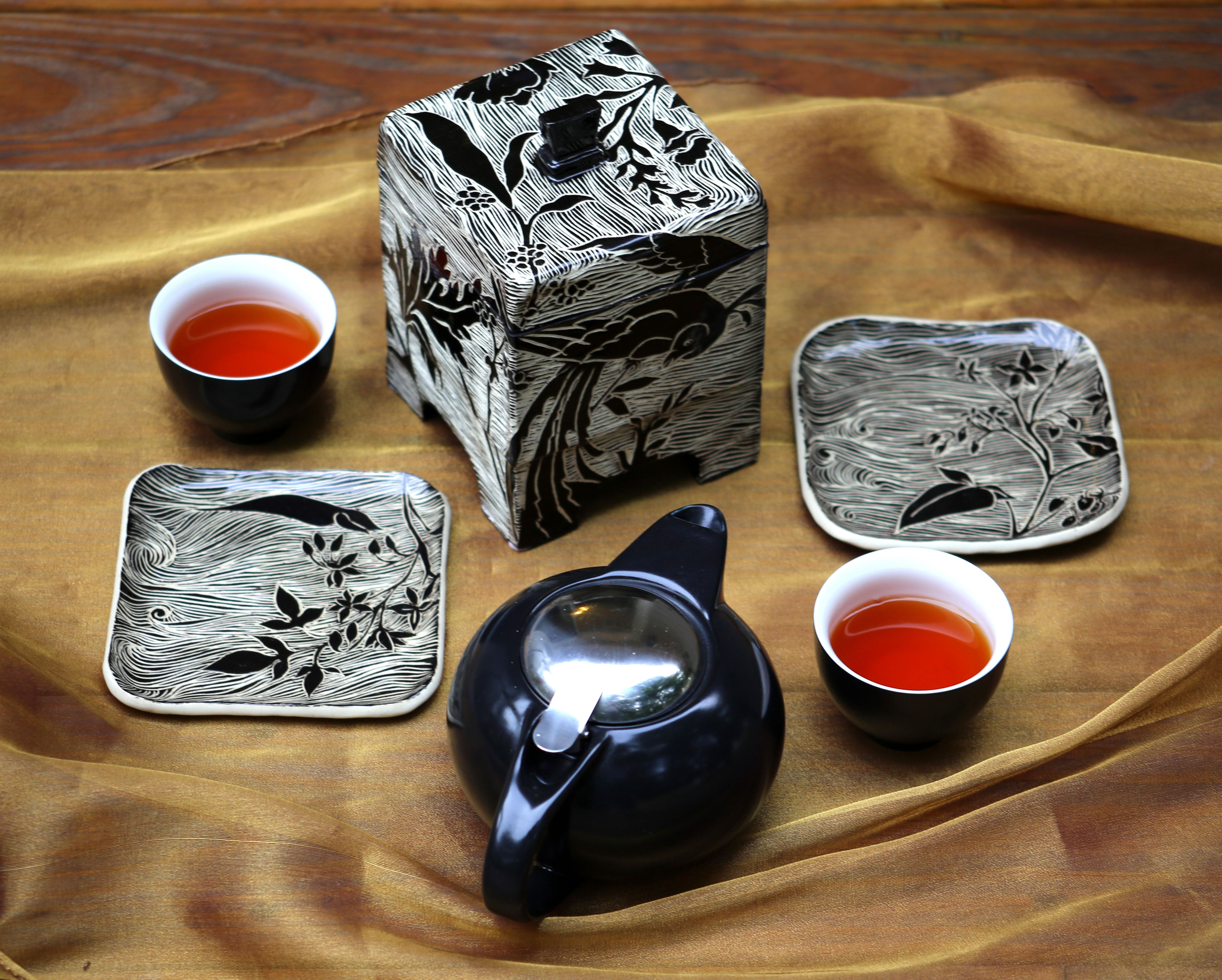 Sgraffito pottery by Gypsy Sisters Studio
