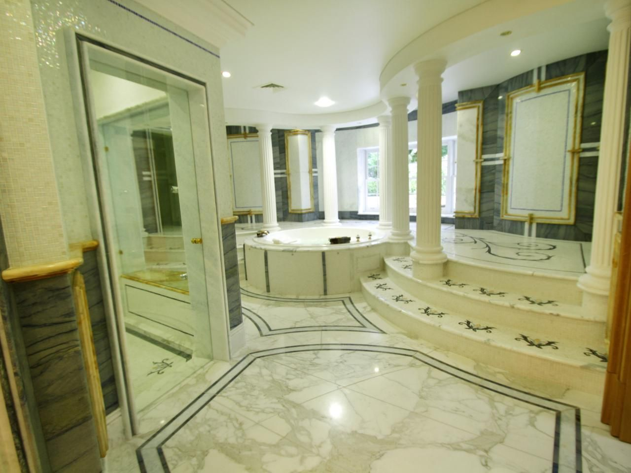 million dollar master bathrooms | white and gray master bathroom