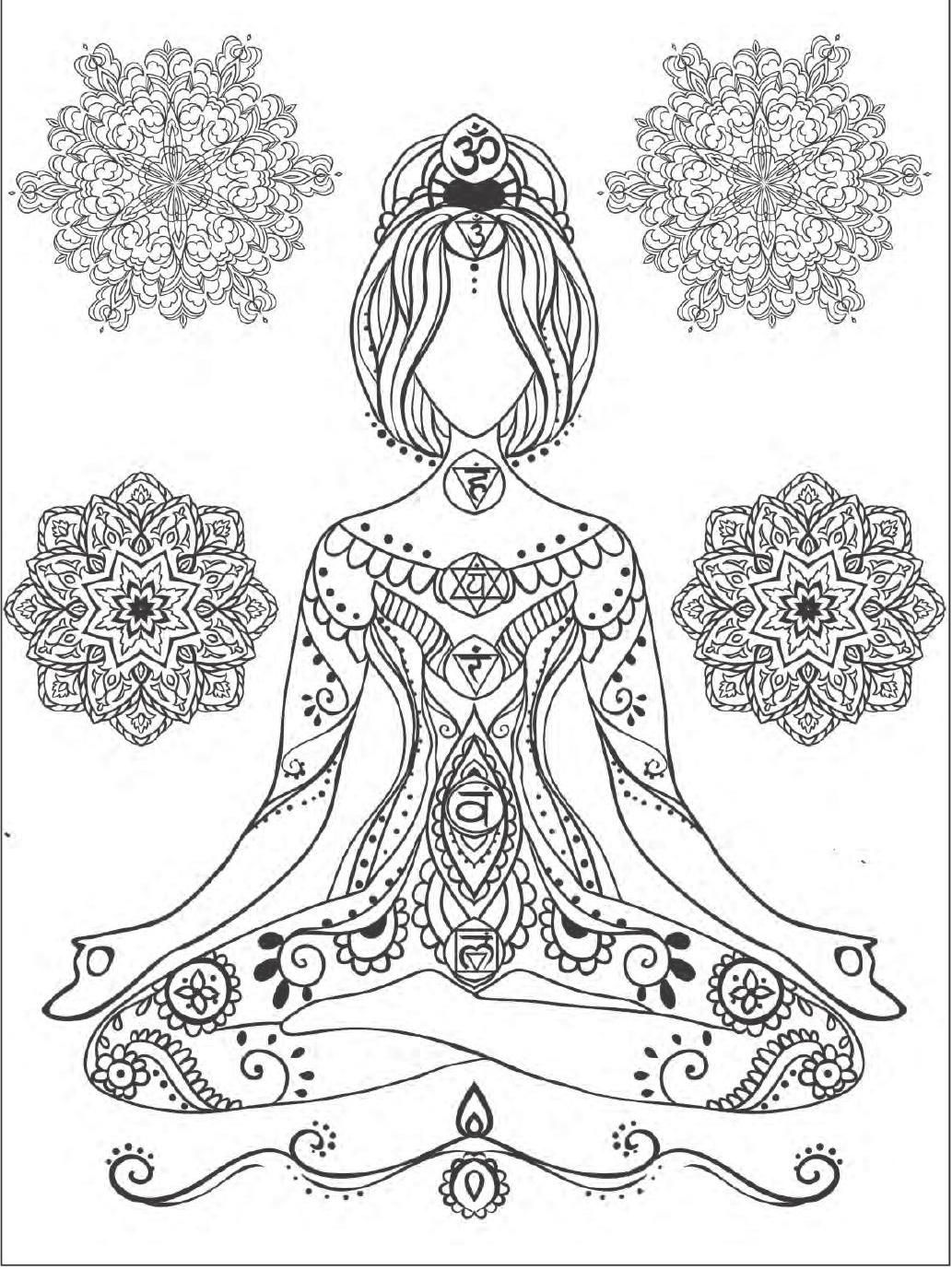 ClippedOnIssuu From Yoga And Meditation Coloring Book For Adults With