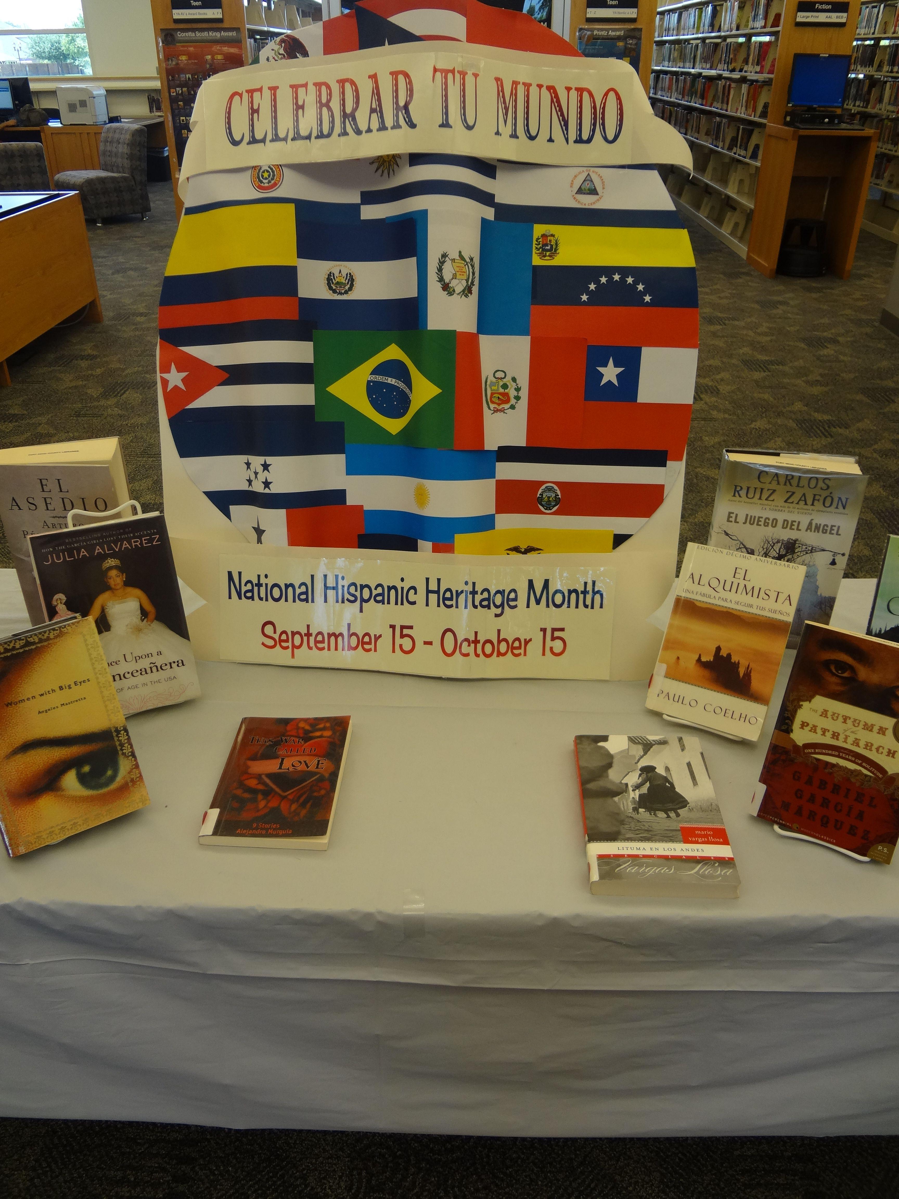Library Display National Hispanic Heritage Month