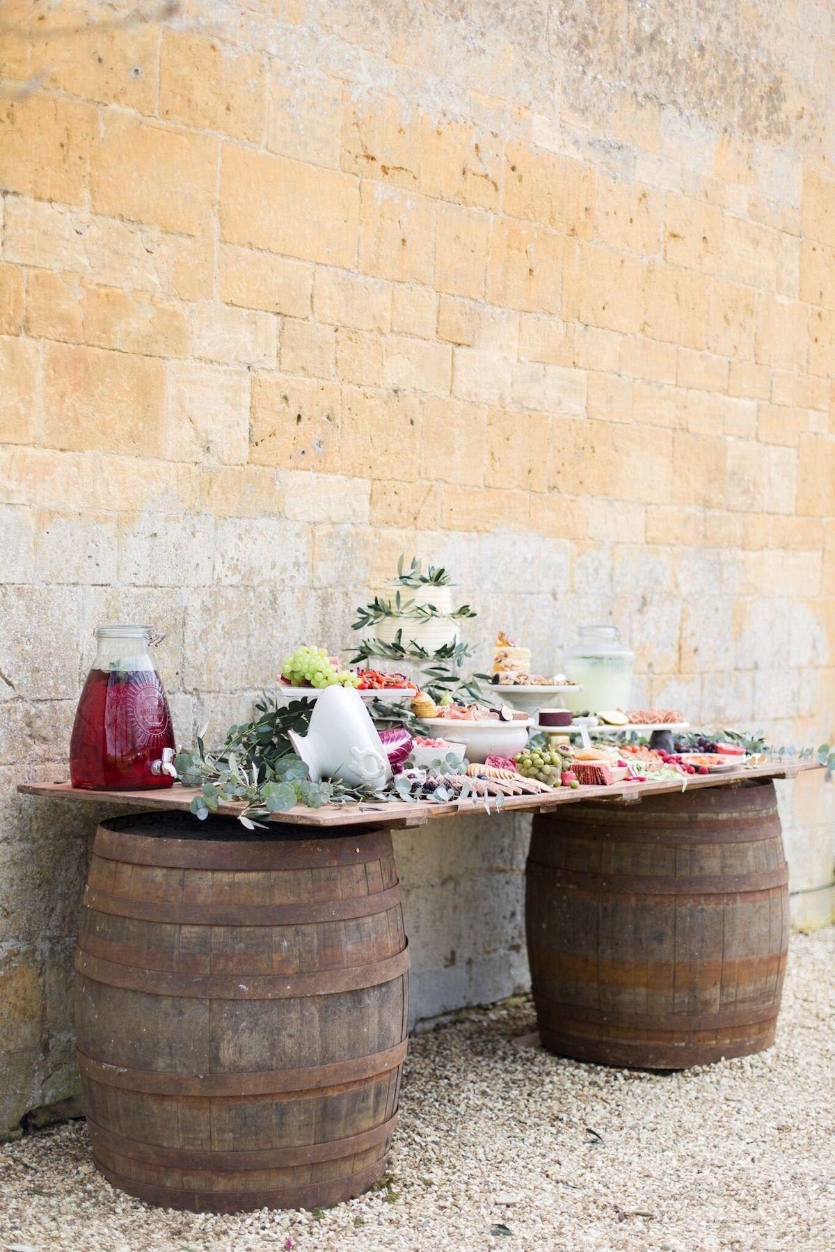 A Mediterranean Grazing Table for a Destination Wedding