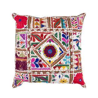 Mosaic Patchwork Throw Pillow