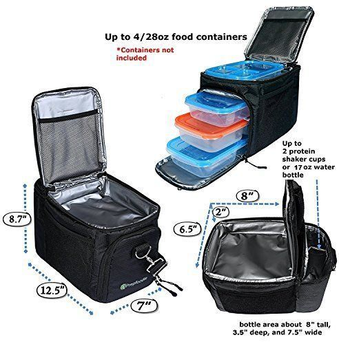 Lunch Box Storage for Men-Best Cooler-Prep Capacity up to 4 Meal