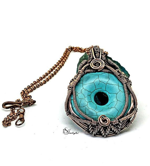 Howlite pendant wire wrap pendant wire wrapped jewelry | TATTOO ...