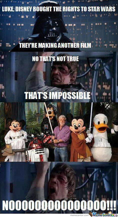 Luke Skywalker Nooo : skywalker, Disney, Memes,, Humor,, Jokes