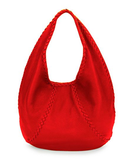 20d0426463 BOTTEGA VENETA CERVO LARGE LEATHER HOBO BAG
