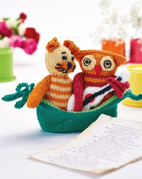 The Owl & The Pussycat - Free Knitting Patterns - Animals   knit pic ...