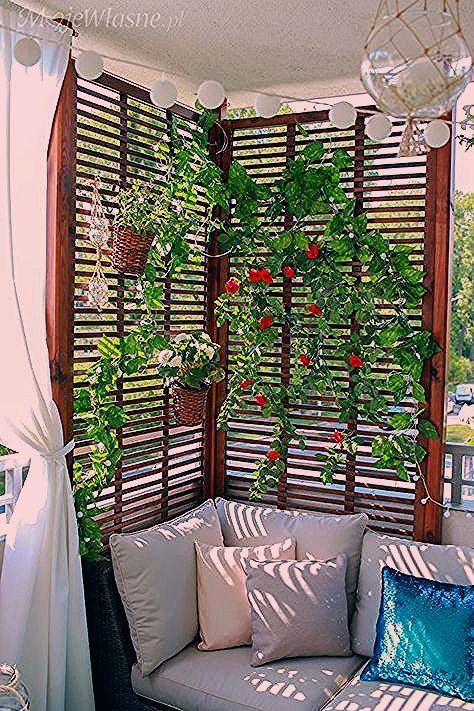 Photo of 44 COMFORTABLE HOME BALCONY DEKORATION DESIGN UND IDEEN – Seite 23 von 44 – Decorating Ideas