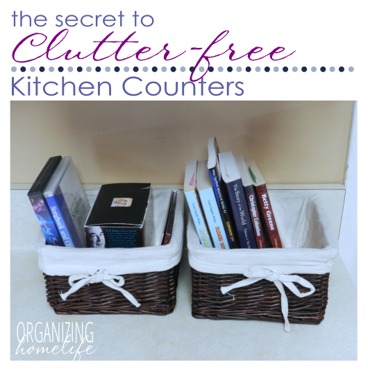 Clutter Free Counters ~ Organize Your Kitchen Frugally Day 18