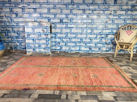 Morocco Vintage Rug Home living Home decor Antique rug Boujad Area carpet 5 3X7 9 FT