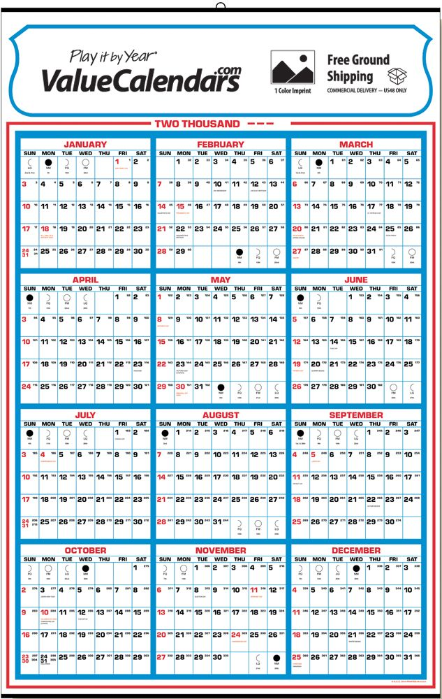Calendar Year View : Yearly memo calendar quot commercial full year