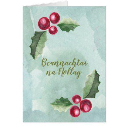 Beannachta na nollag irish christmas holly berry card xmascards beannachta na nollag irish christmas holly berry card xmascards christmaseve christmas eve christmas merry xmas m4hsunfo