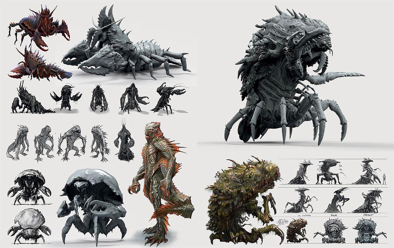 Digital Concept Art Designing Creatures