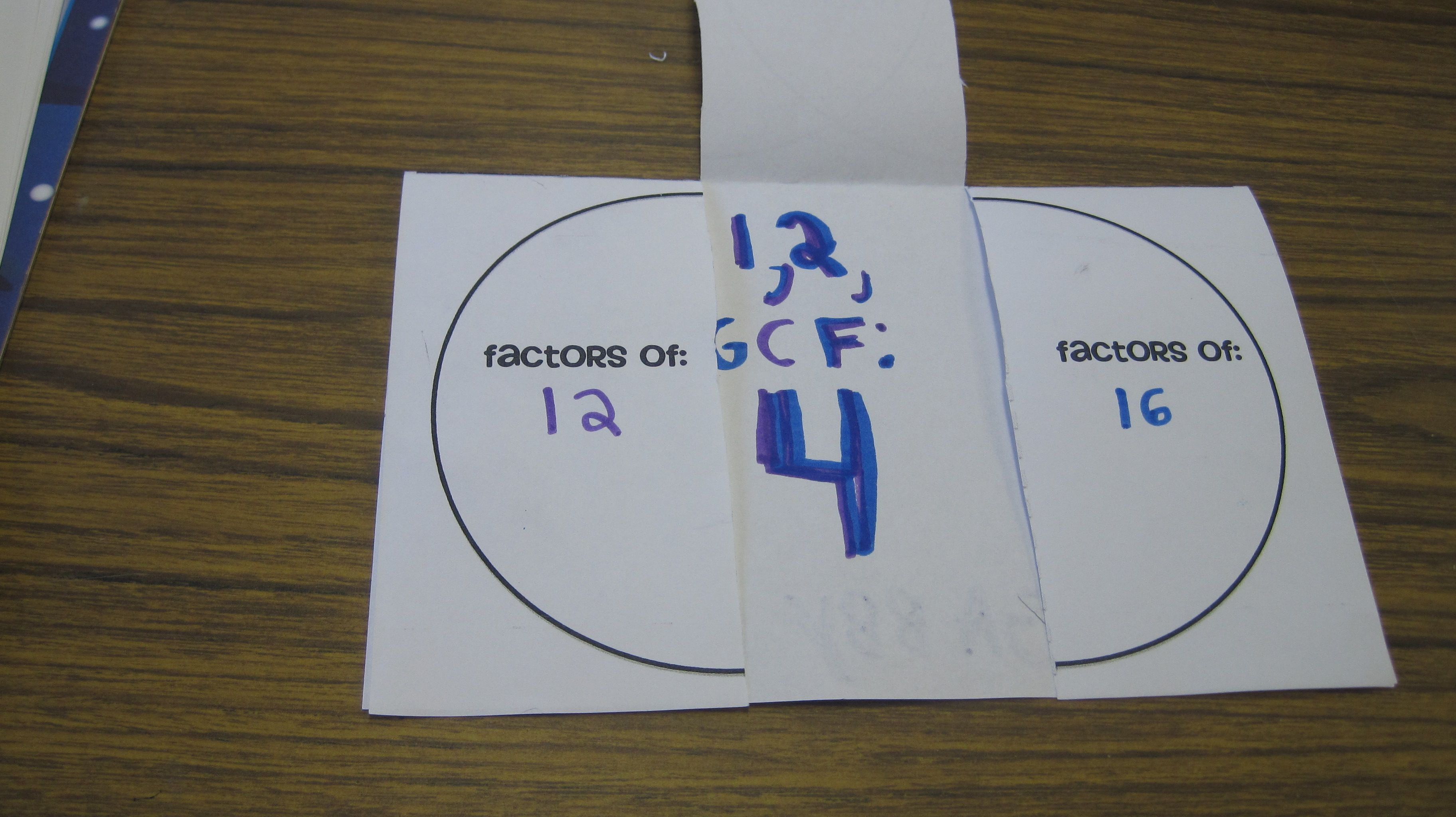 Venn Diagram Gcf Foldable