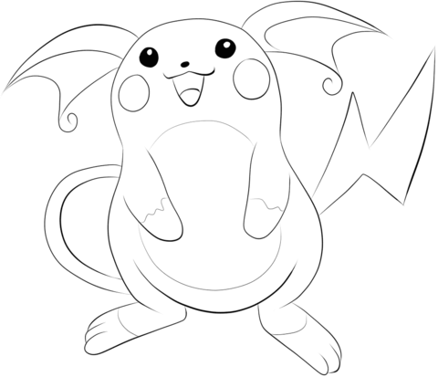 Raichu Coloring Page Pokemon Coloring Pages Cool Coloring Pages Pokemon Coloring