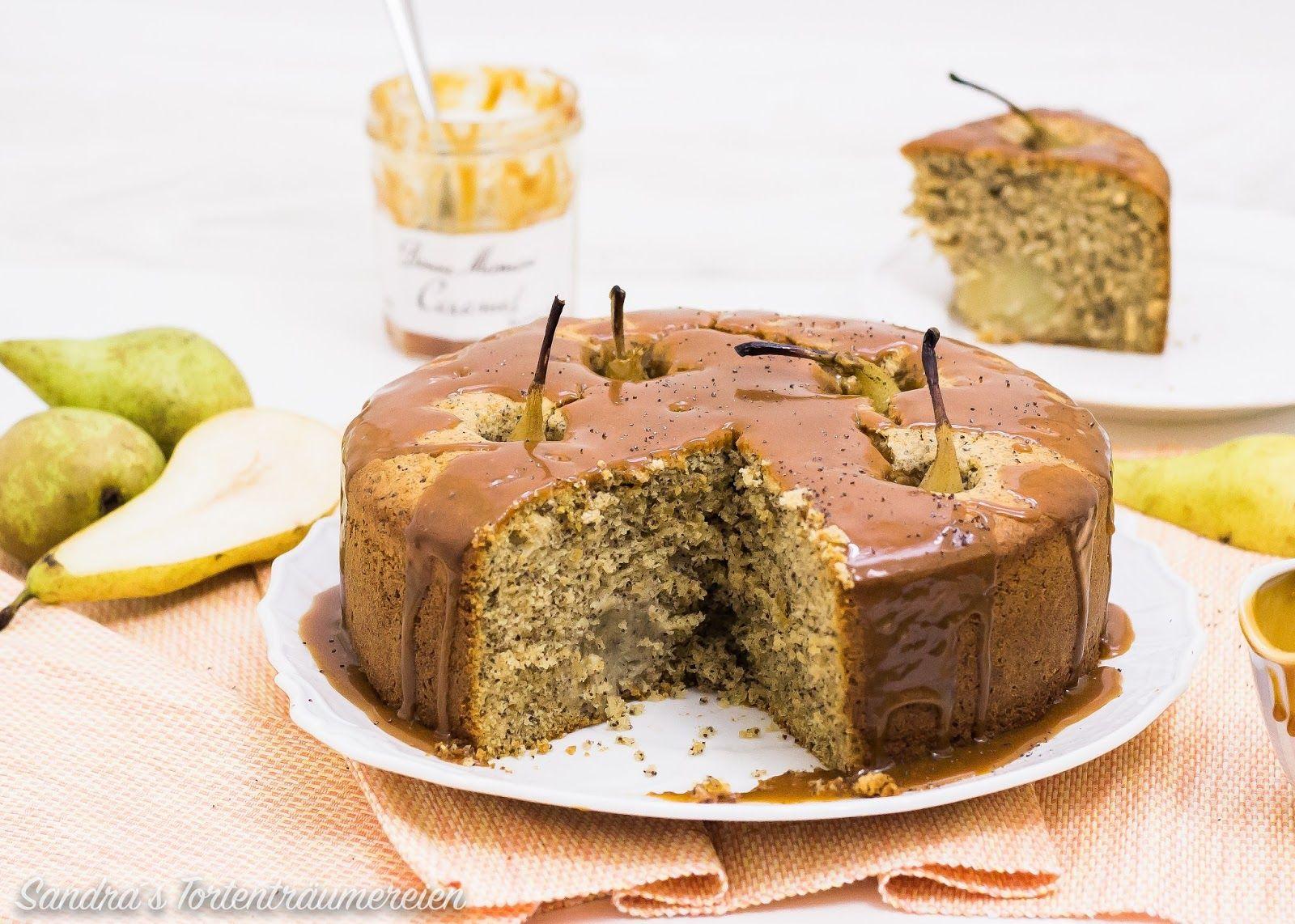 Calendar Of Ingredients Birnen Mohn Torte Karamellsauce Bonne