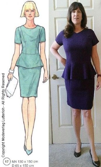 Supplement 290 Model #17  - Autumn 2013      Peplum Top with Pencil Skirt     This two piece dress was for a wedding in the mountains on O...