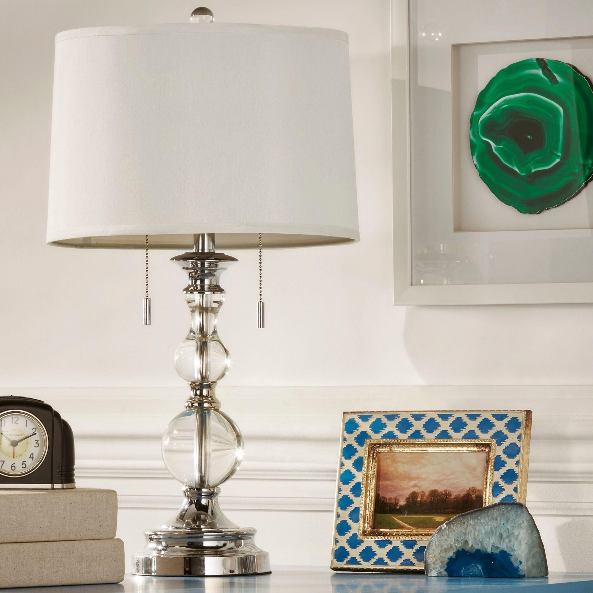 Inspire Q Quinn Crystal Mercury Base 2-Light Accent Table Lamp (Crystal  Mercury Base 2-Light), Clear (Metal)
